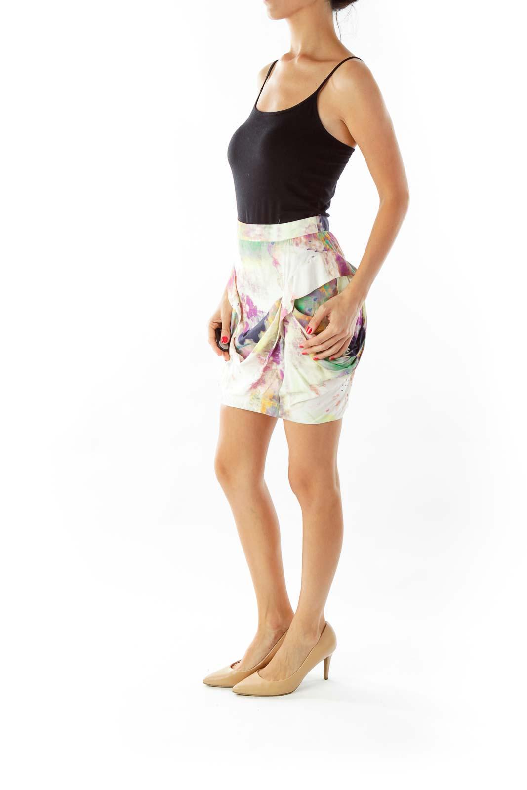 Multicolor Draped Skirt