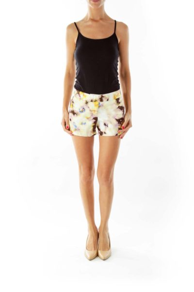 Yellow Tie-Die Shorts