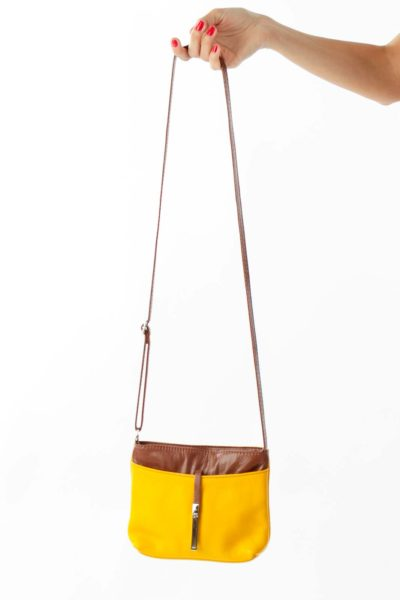 Yellow Brown Shoulder Bag