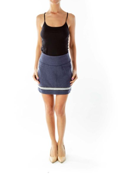 Navy Gray Activewear Skirt