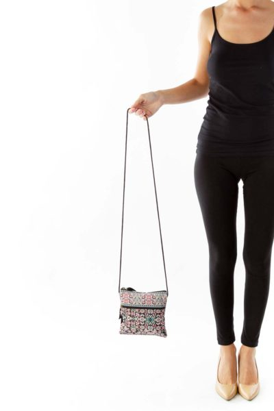 Multicolor Paisley Crossbody Bag