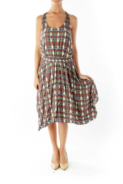 Multicolor Tribal Print Day Dress