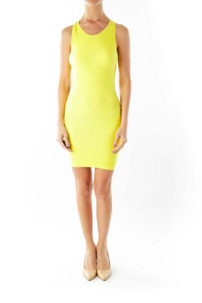 Neon Yellow Bodycon Dress