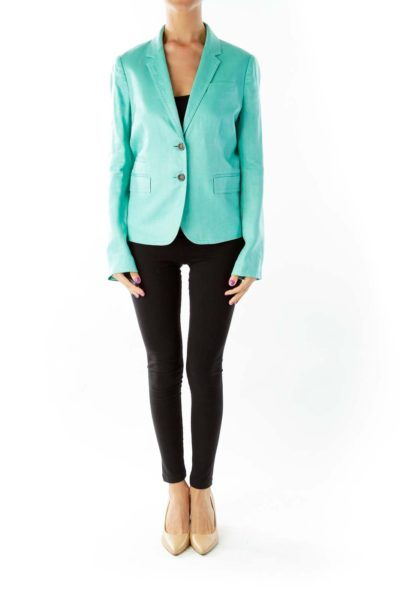 Green Fitted Blazer