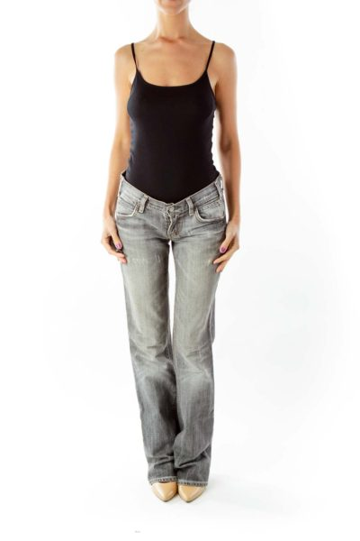 Gray Flared Jeans