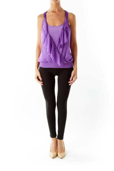 Purple Ruffled Blouse