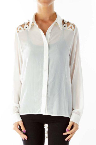 Cream Studded Shirt