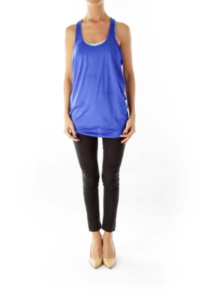 Blue Racerback Yoga Top