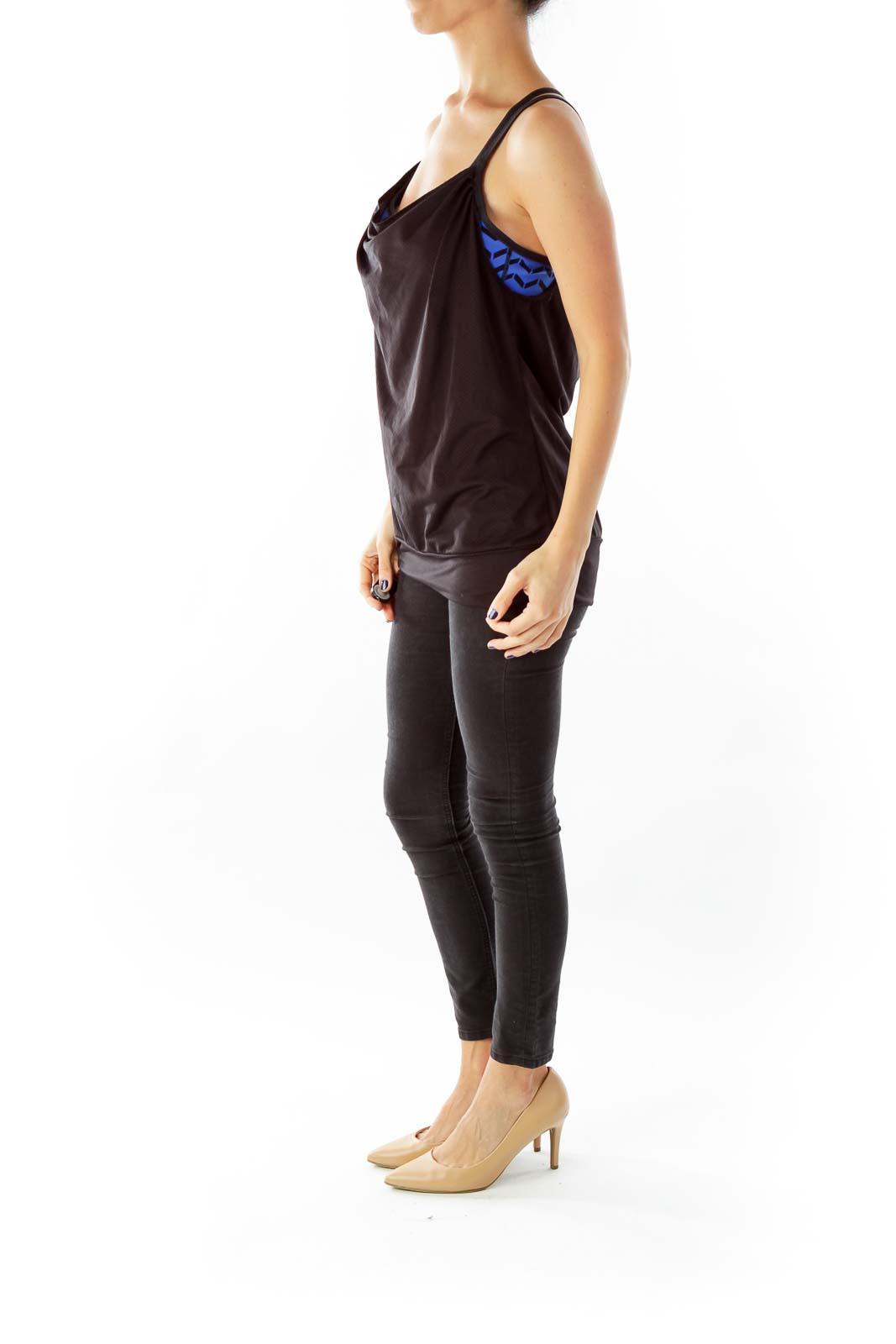 Black Racerback Yoga Top with Bralet