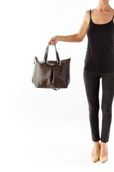 Brown Monogrammed Shoulder Bag