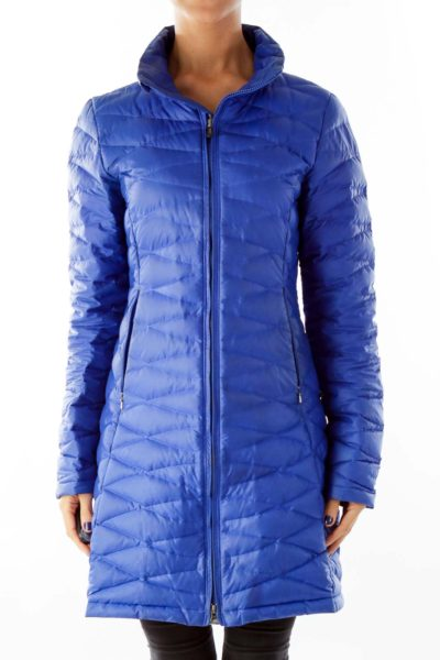 Blue Puffy Sport Jacket