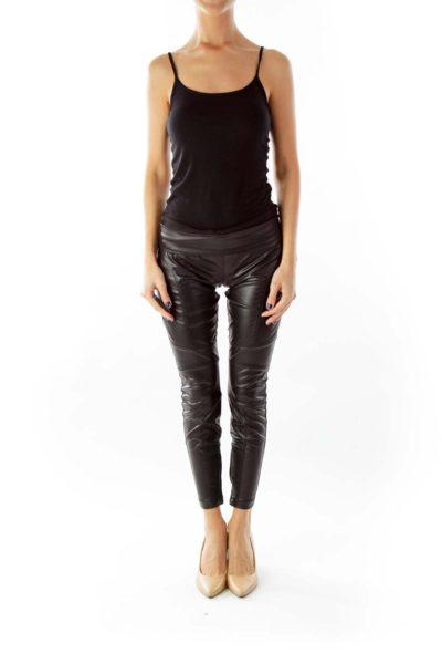 Black Faux-Leather Leggings