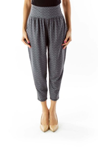Gray Tribal Cozy Pants