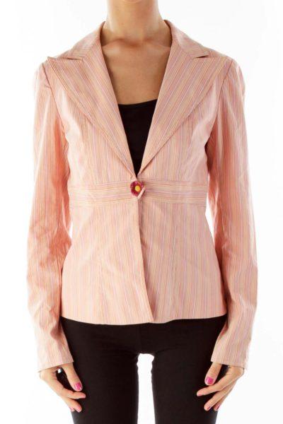 Pink Pinstripe Blazer