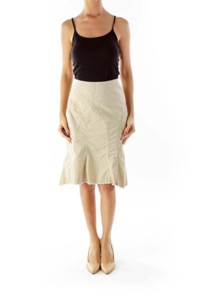 Brown Flared Skirt