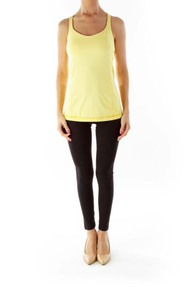 Yellow Racerback Yoga Top