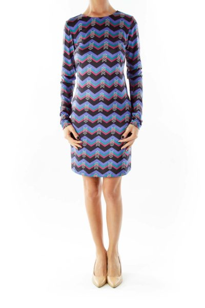 Purple Multi Victory Printed Shift Dress