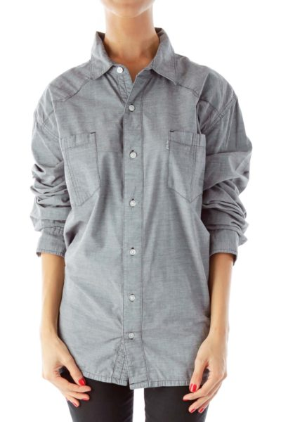 Gray Button Down Shirt
