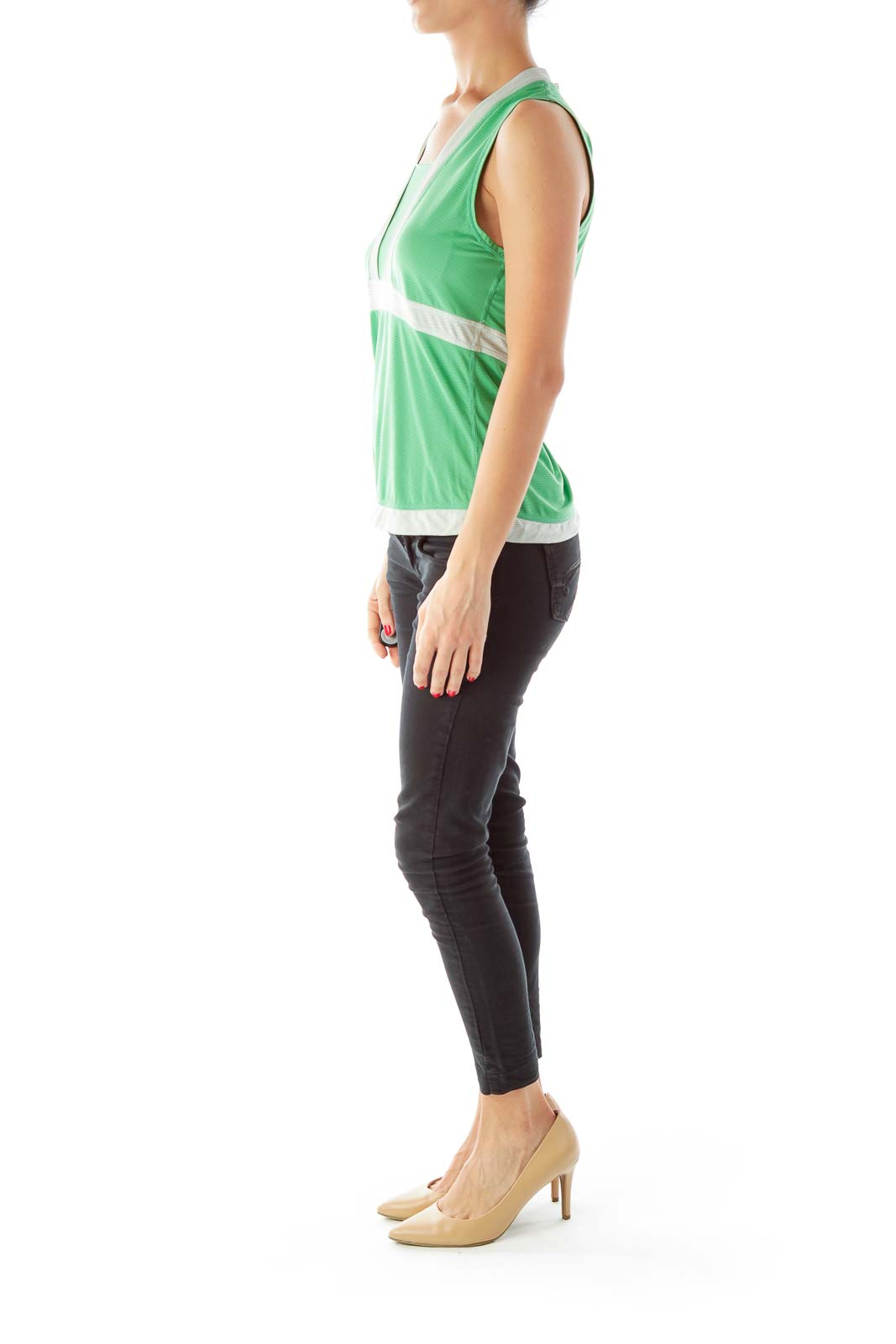 Green Gray Sport Top