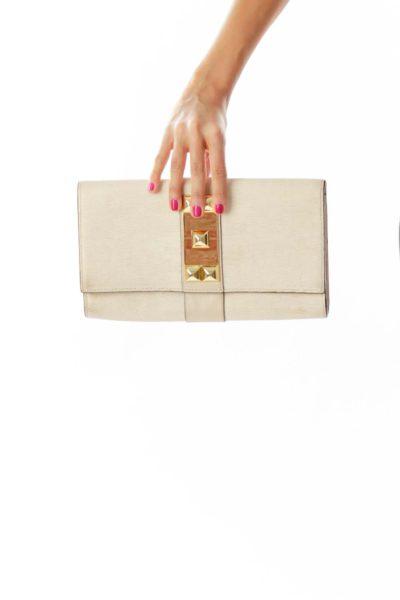 Gold Champagne Studded Handbag