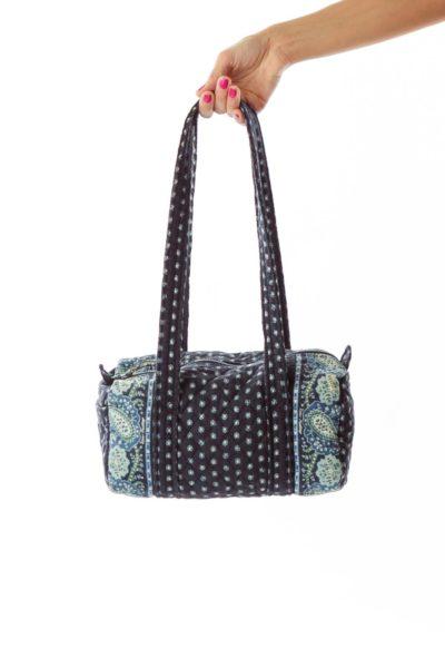Navy Floral Shoulder Bag