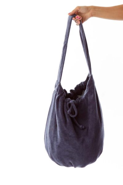 Navy Bow Tote