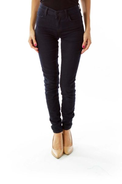 Navy Fitted Skinny Jeans