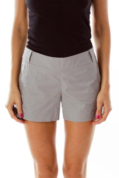 Grey Pocketed Short Shorts
