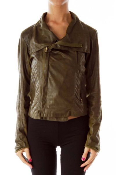 Brown Zippered Jacket