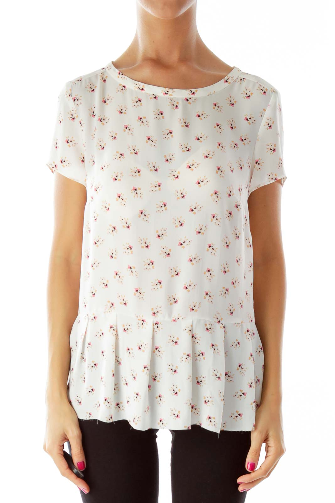 Shop ann taylor loft clothing and handbags at silkroll trade with us pink flower print blouse mightylinksfo
