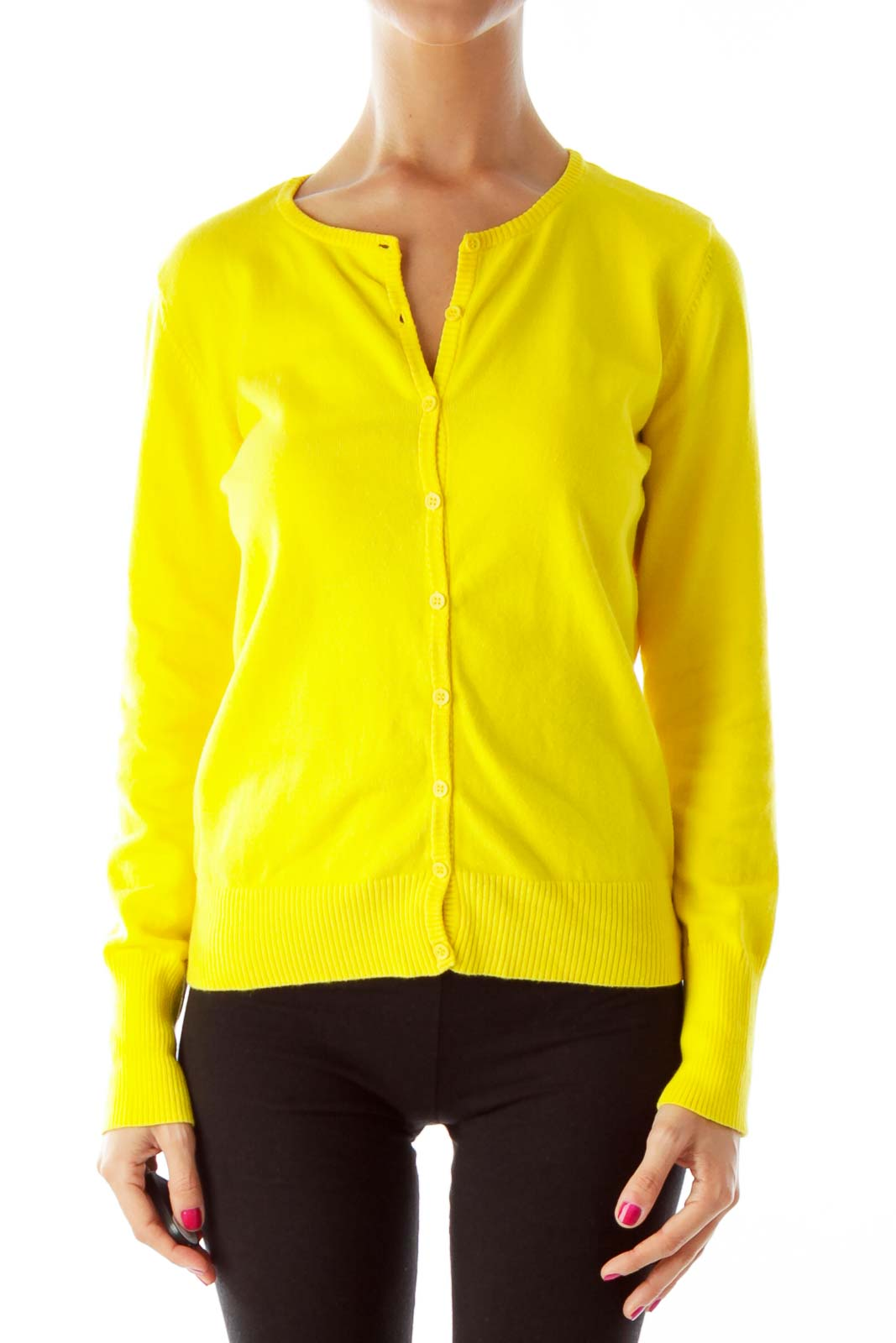 Womens Yellow Long Sleeve Shirt