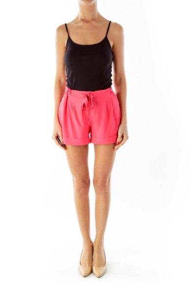 Pink Pocketed Sports Shorts