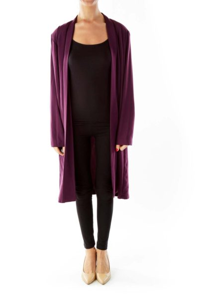 Purple Longer Length Blazer