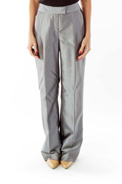 Silver Suit Pants