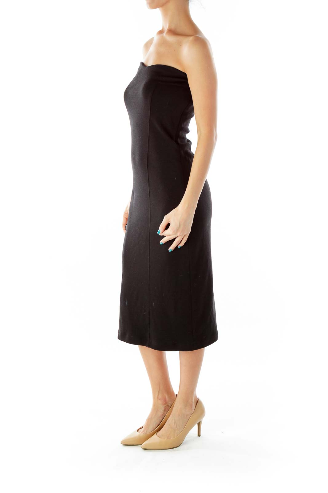 Black Strapless Cocktail Dress