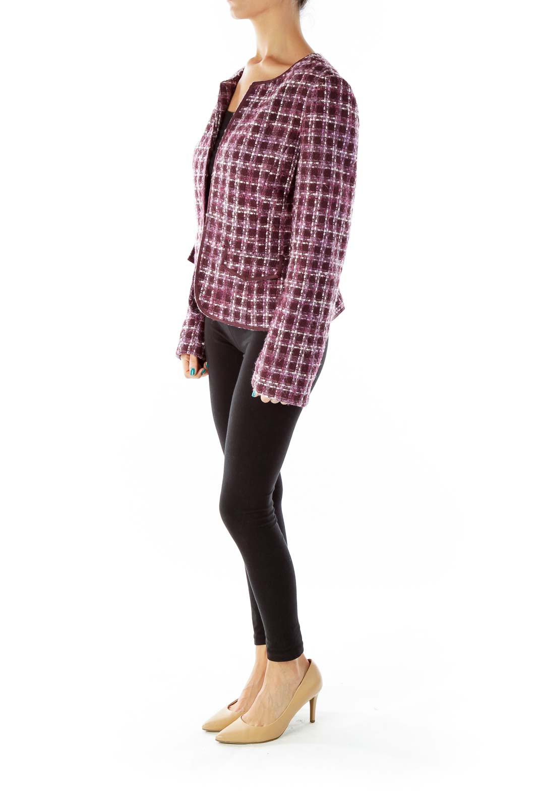 Purple Tweed Blazer