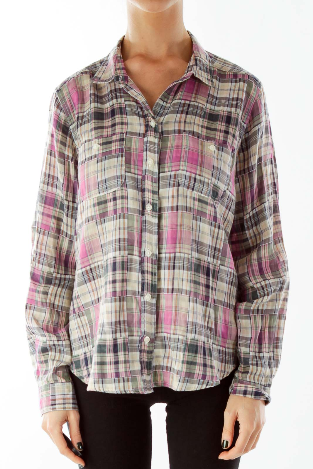 Multicolor Madras Pocketed Shirt