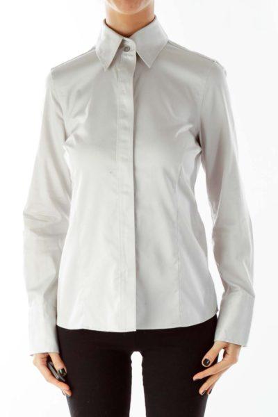 Gray Buttoned Shirt