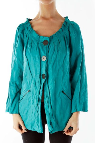 Blue Buttoned Jacket