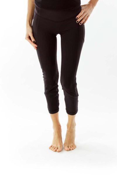 Black Fitted Yoga Pants