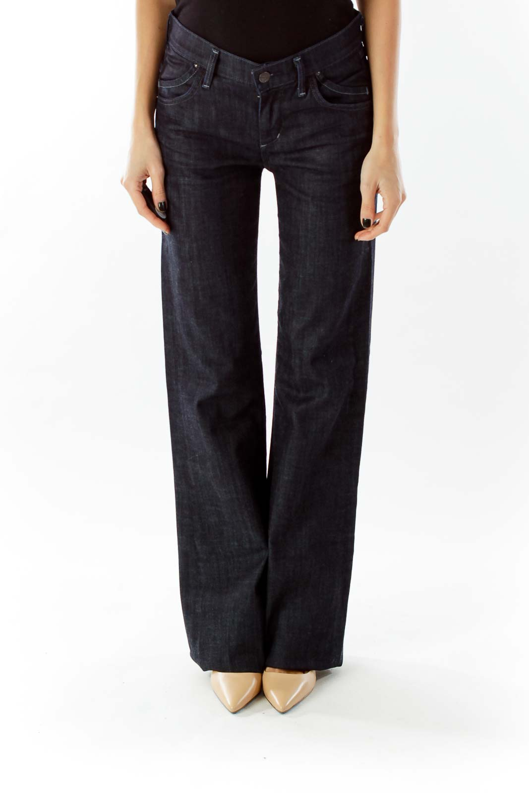 Navy Flared Jeans