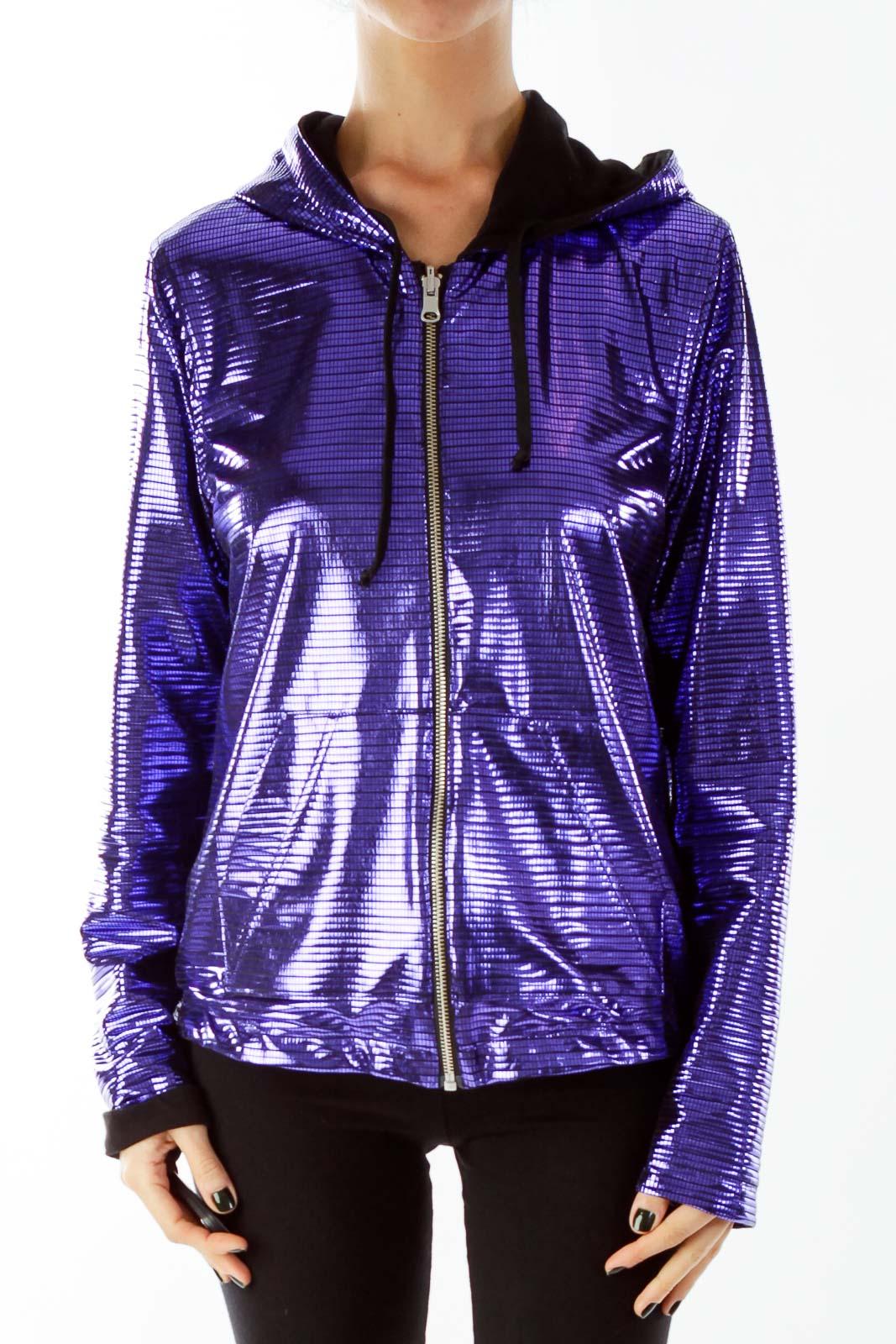 Purple Metallic Reversible Jacket