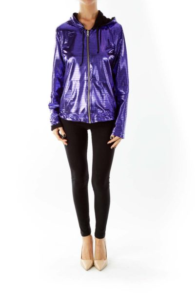 Purple Metallic Reversible Jacket