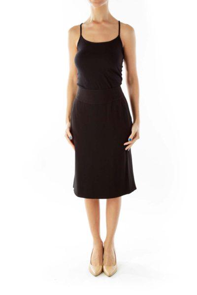 Black Pencil Midi Skirt