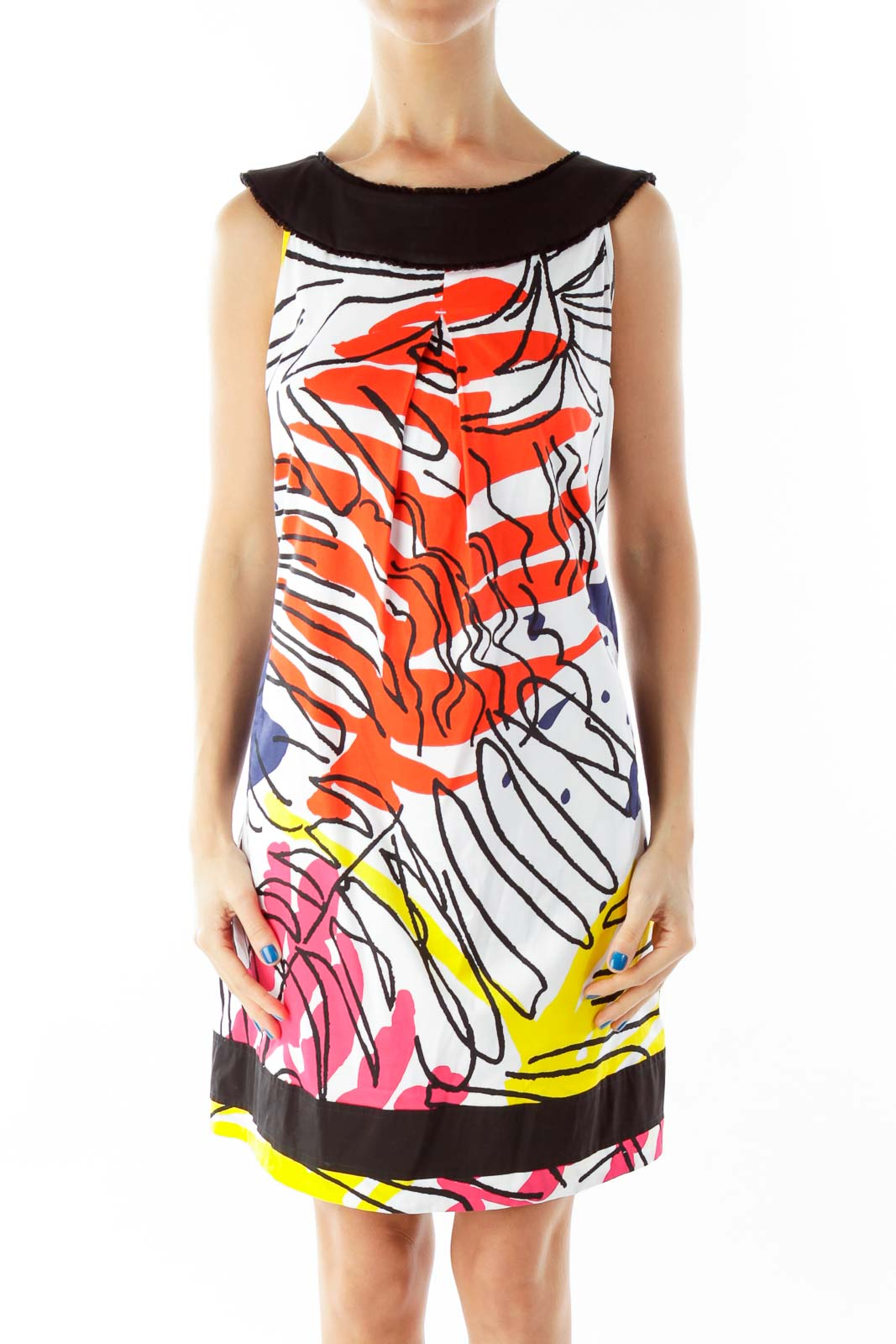 Multicolor Print Sleeveless Day Dress