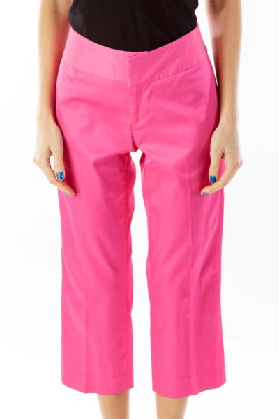 Hot Pink Cropped Pants