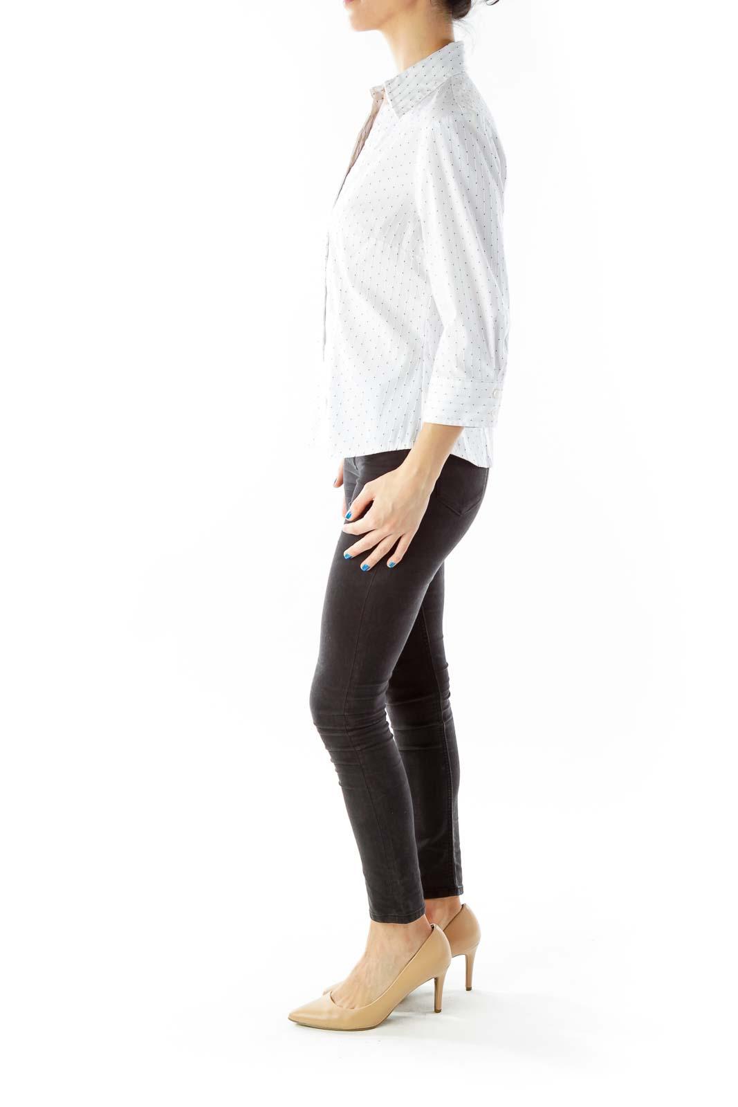 White Pinstripe Shirt