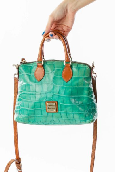 Green Brown Mini Tote