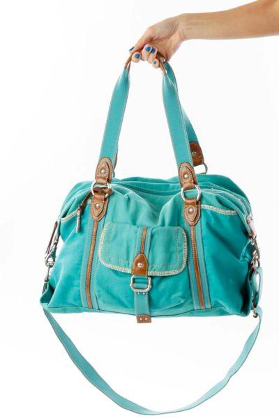 Green Canvas Duffel Bag