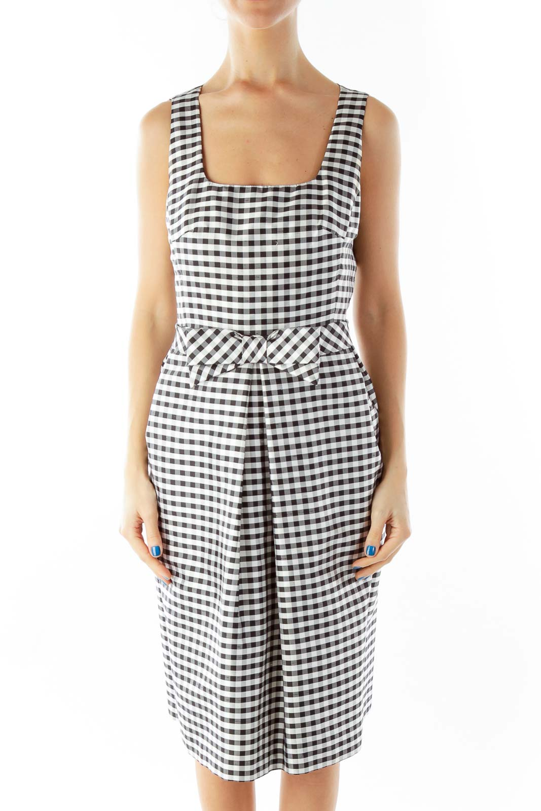 Black White Gingham Dress